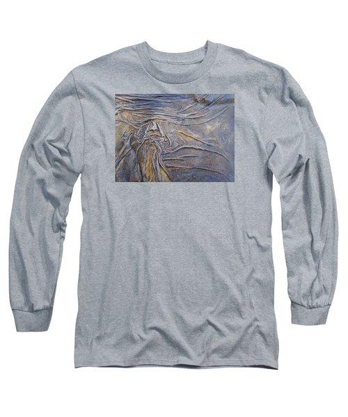 Wood Face  Long Sleeve T-Shirt by Steve  Hester