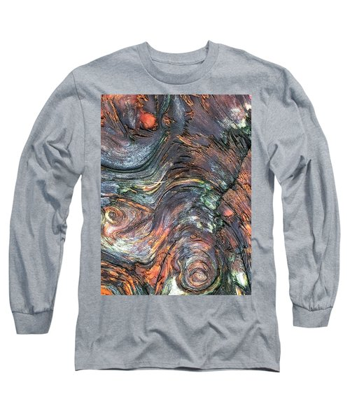 Wood Grain Long Sleeve T-Shirt