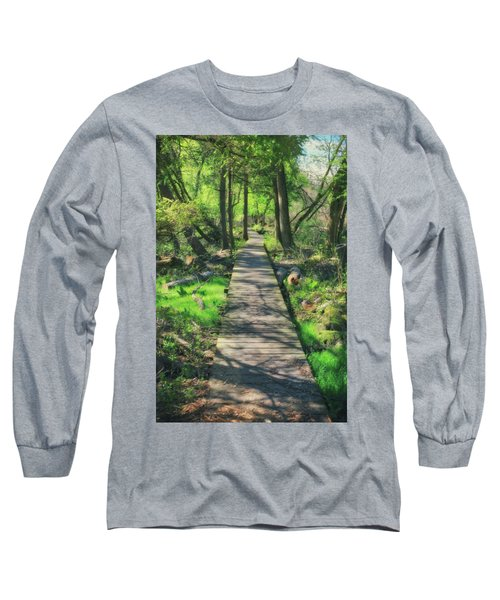 Wooded Path - Spring At Retzer Nature Center Long Sleeve T-Shirt by Jennifer Rondinelli Reilly - Fine Art Photography