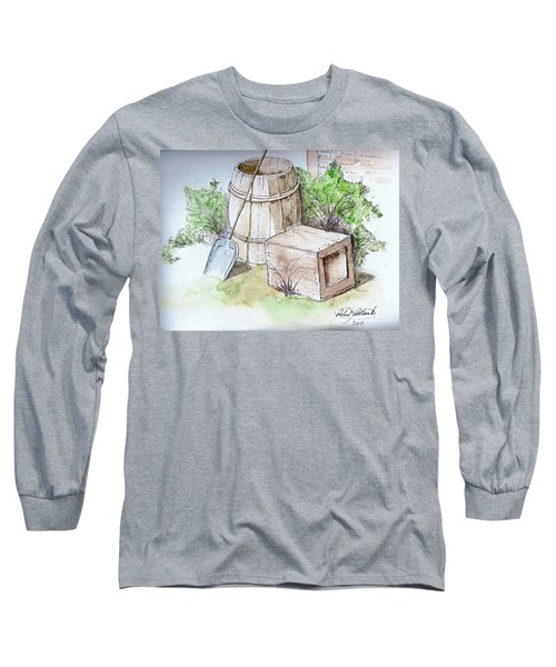 Wooden Barrel And Crate Long Sleeve T-Shirt
