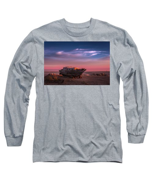 Wooden Boat Long Sleeve T-Shirt by Ralph Vazquez