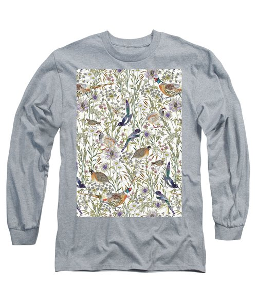 Woodland Edge Birds Long Sleeve T-Shirt