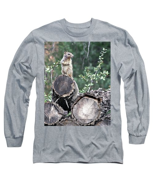 Woodpile Squirrel Long Sleeve T-Shirt