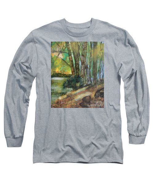 Woods In The Afternoon Long Sleeve T-Shirt by Robin Maria Pedrero