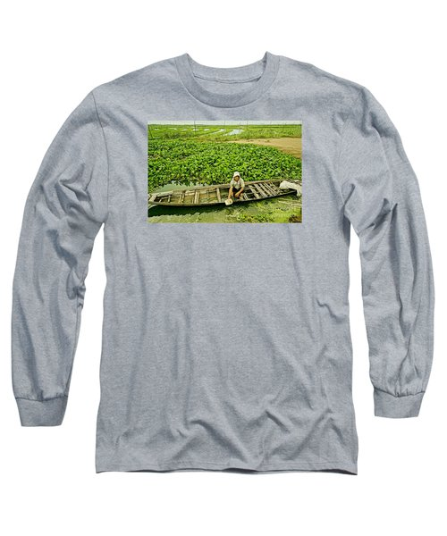 Long Sleeve T-Shirt featuring the photograph Work Hard With Smile by Arik S Mintorogo