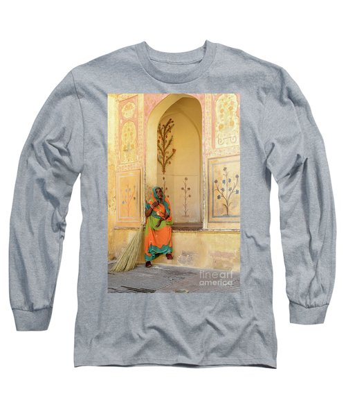 Workers In Amer Fort 01 Long Sleeve T-Shirt