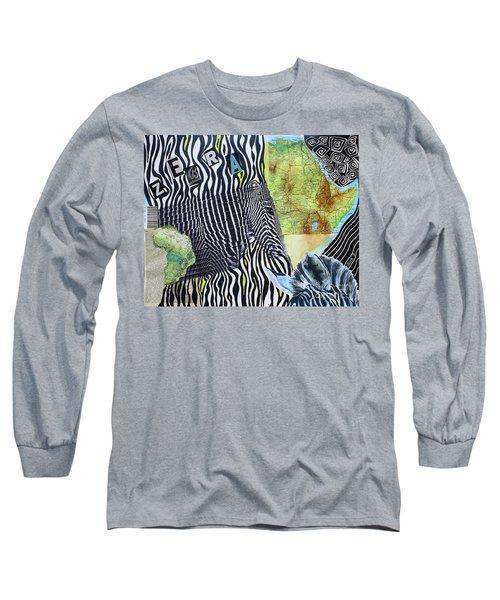World Of Zebras Long Sleeve T-Shirt