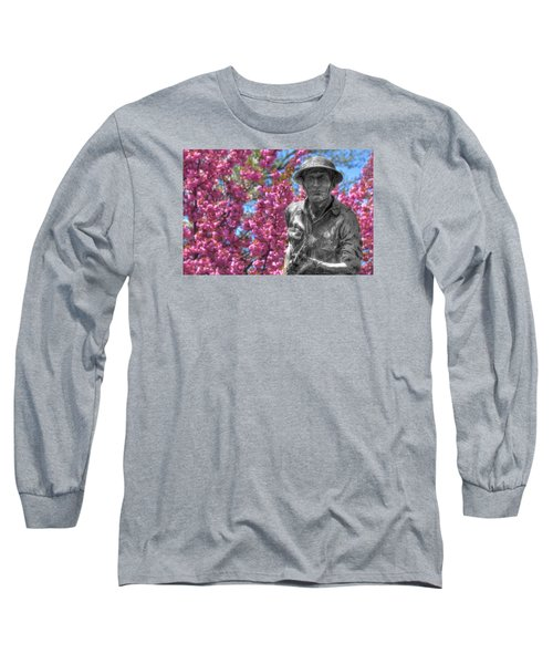 Long Sleeve T-Shirt featuring the photograph World War I Buddy Monument Statue by Shelley Neff