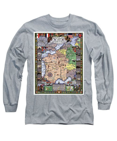 Long Sleeve T-Shirt featuring the photograph World War One Historian's Panel by Daniel Hagerman