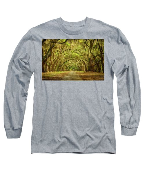 Wormsloe Plantation Oaks Long Sleeve T-Shirt by Priscilla Burgers