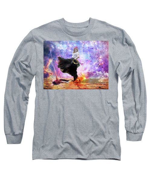 Worship Warrior Long Sleeve T-Shirt by Dolores Develde