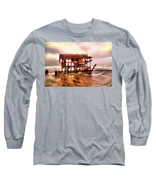 Wreck Of The Peter Iredale  Long Sleeve T-Shirt