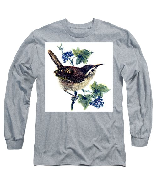 Wren In The Ivy Long Sleeve T-Shirt by Nell Hill