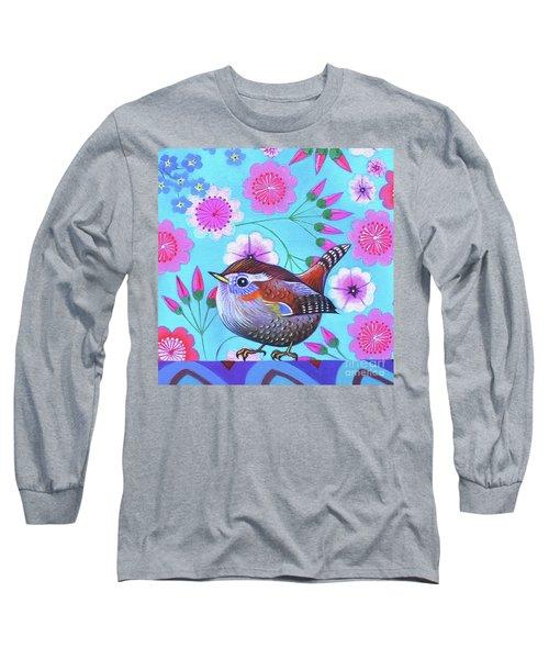 Wren Long Sleeve T-Shirt by Jane Tattersfield
