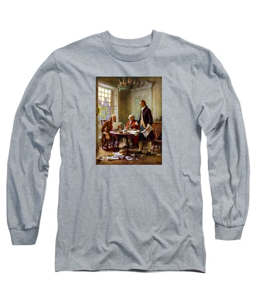 Writing The Declaration Of Independence Long Sleeve T-Shirt by War Is Hell Store