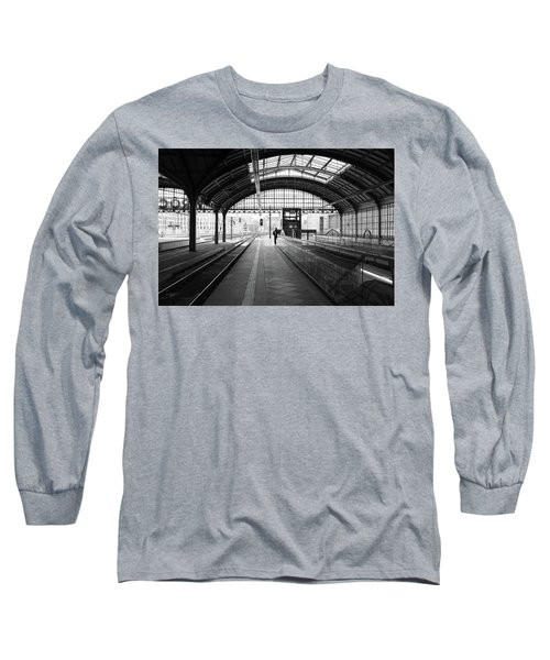 Long Sleeve T-Shirt featuring the photograph Wroclaw Central Railways Station by Dubi Roman