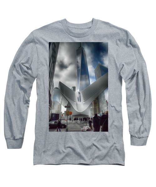 Wtc Oculus - Freedom Tower Long Sleeve T-Shirt by Dyle Warren