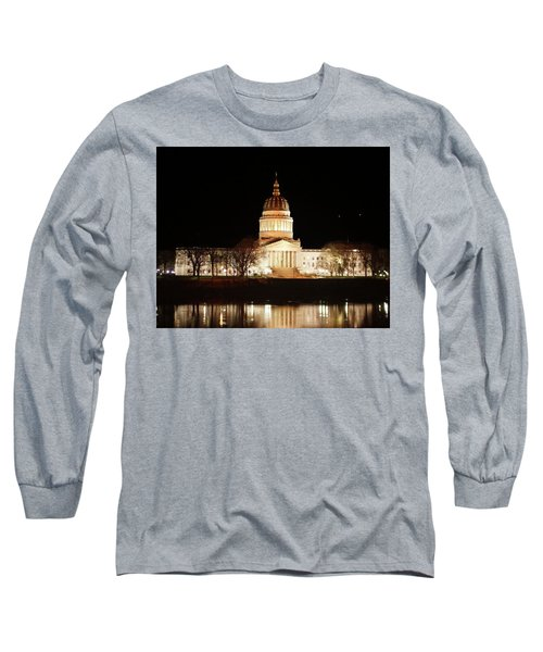 Long Sleeve T-Shirt featuring the photograph Wv Capital Building by B Wayne Mullins