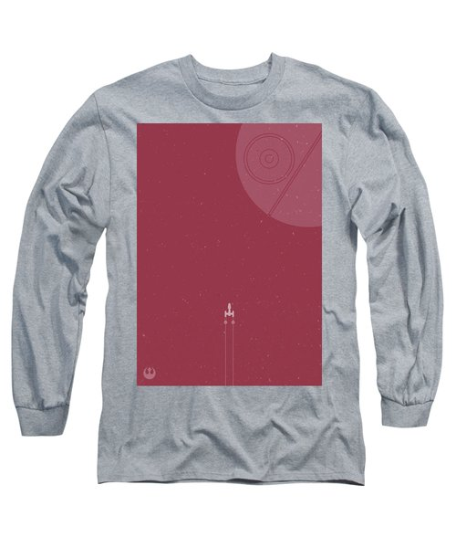 Y-wing Bomber Meets Death Star Long Sleeve T-Shirt