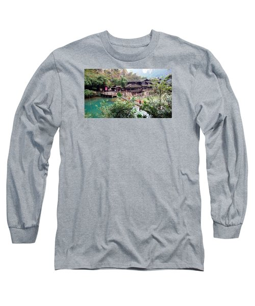 Long Sleeve T-Shirt featuring the photograph Yangtze Village by Vicky Tarcau