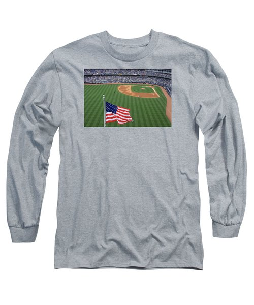 Yankee Stadium Flag Long Sleeve T-Shirt