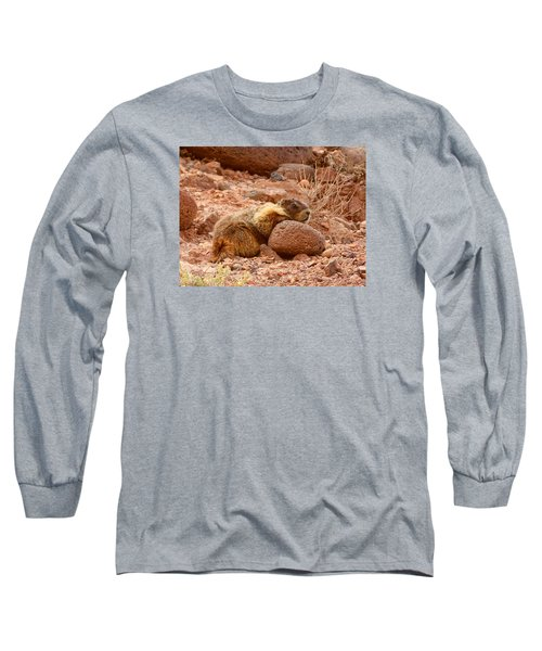 Yellow Bellied Marmot Capitol Reef Utah Long Sleeve T-Shirt