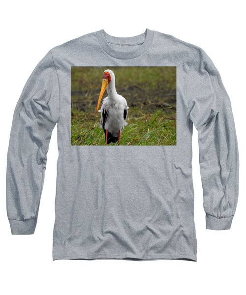 Long Sleeve T-Shirt featuring the photograph Yellow-billed Stork by Betty-Anne McDonald