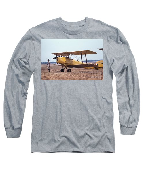 Yellow Bipe Long Sleeve T-Shirt