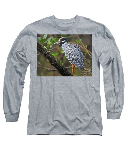 Yellow Crowned Night Heron Long Sleeve T-Shirt