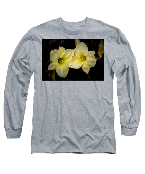 Yellow Day Lilies Long Sleeve T-Shirt