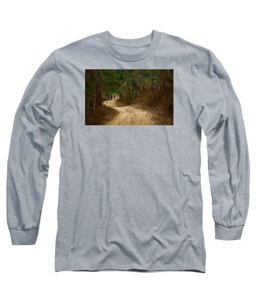 Long Sleeve T-Shirt featuring the photograph Yellow Dust Road by Cameron Wood