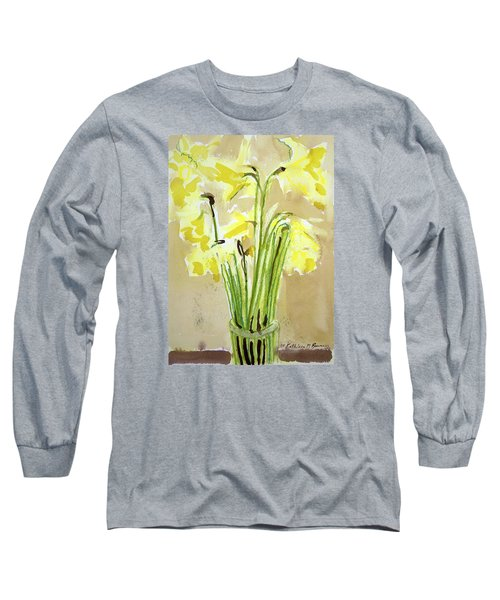 Yellow Flowers In Vase Long Sleeve T-Shirt