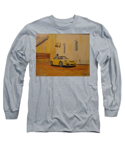 Yellow Gt3 Porsche Long Sleeve T-Shirt