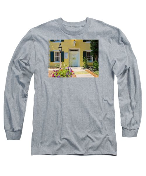 Long Sleeve T-Shirt featuring the photograph Yellow House In Kingston by Nancy De Flon