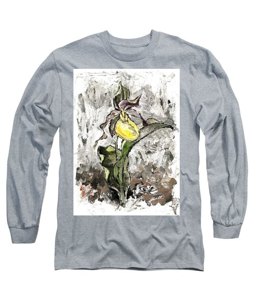 Yellow Lady's Slipper Long Sleeve T-Shirt