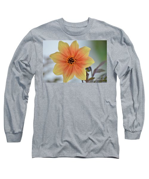 Yellow Orange Dahlia Perfection Long Sleeve T-Shirt
