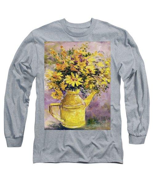 Yellow Pot Of Sunshine Long Sleeve T-Shirt