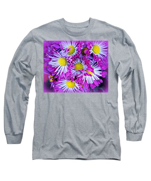 Yellow Purple And White Long Sleeve T-Shirt