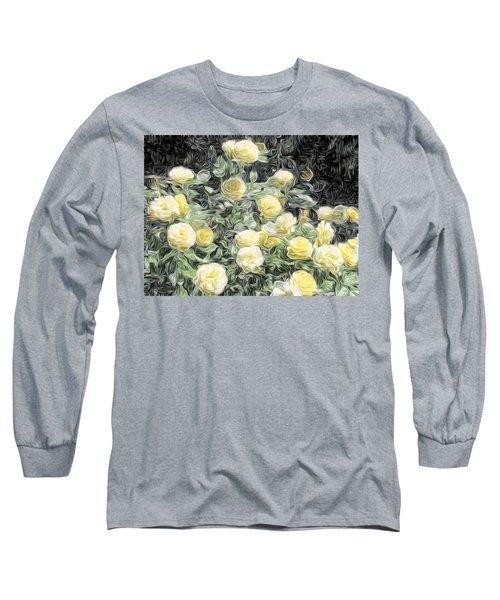 Yellow Roses Long Sleeve T-Shirt
