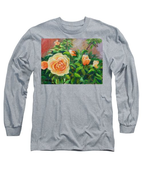 Yellow Roses Long Sleeve T-Shirt by William Reed