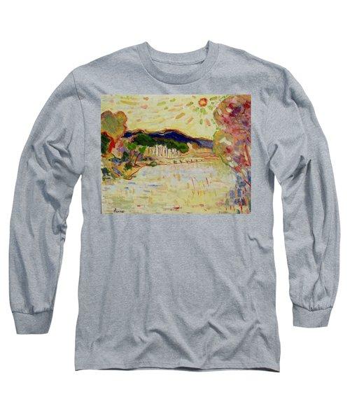 Beynac Et Cazenac , Dordogne , Yellow Sunshine  Long Sleeve T-Shirt by Pierre Van Dijk