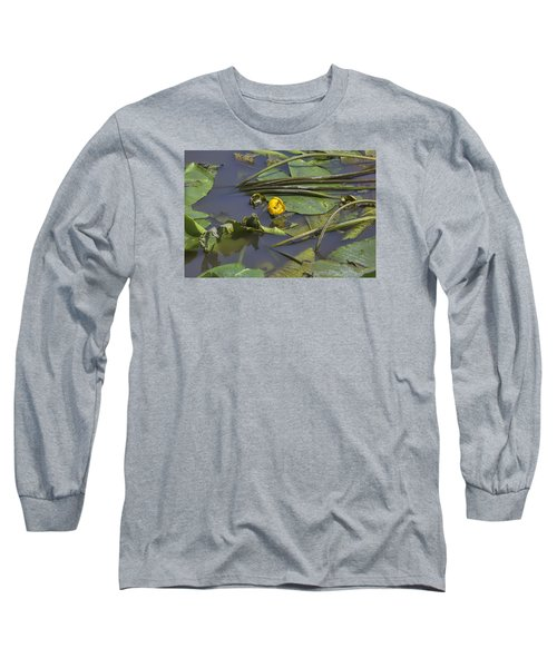 Long Sleeve T-Shirt featuring the photograph Yellow Waterlilly 2015 by Leif Sohlman