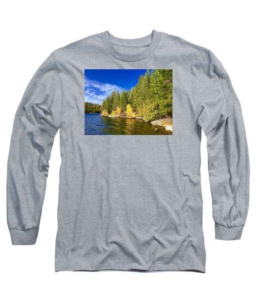 Golden Waters Long Sleeve T-Shirt by Jennifer Lake