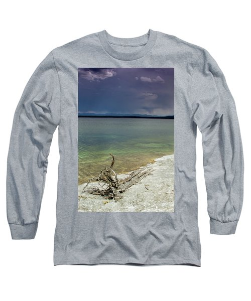 Long Sleeve T-Shirt featuring the photograph Yellowstone Lake by Dawn Romine