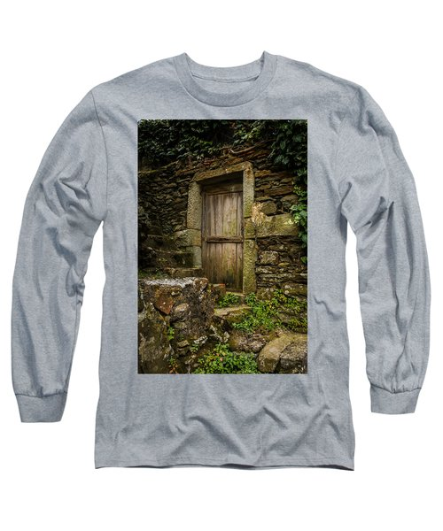 Long Sleeve T-Shirt featuring the photograph Yesterday's Garden Door by Kathleen Scanlan