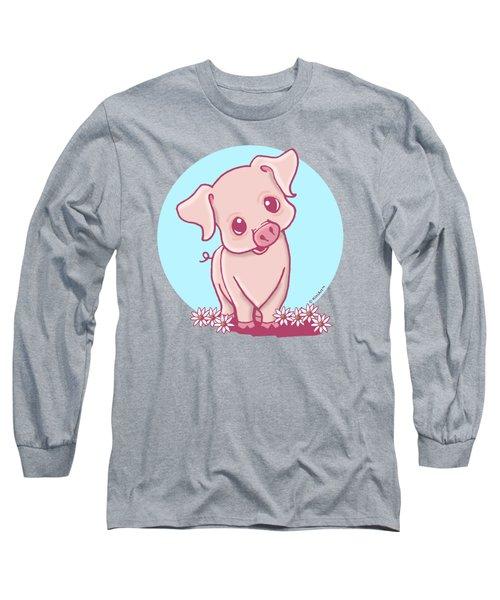 Yittle Piggy Long Sleeve T-Shirt