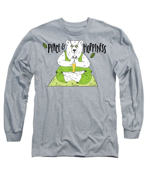 Yoga Beer Bear Long Sleeve T-Shirt