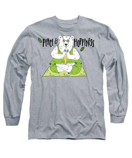 Yoga Beer Bear Long Sleeve T-Shirt
