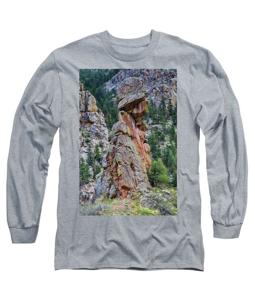 Long Sleeve T-Shirt featuring the photograph Yogi Bear Rock Formation by James BO Insogna