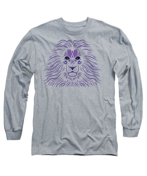 Yoni The Lion - Dark Long Sleeve T-Shirt by Serena King